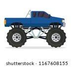 modern monster truck vehicle...   Shutterstock .eps vector #1167608155