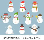 snowman icon for winter and... | Shutterstock .eps vector #1167621748