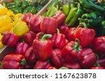 fresh bell pepper from the farm. | Shutterstock . vector #1167623878