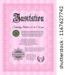 pink vintage invitation... | Shutterstock .eps vector #1167627742