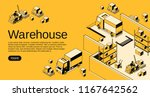 warehouse logistics and... | Shutterstock .eps vector #1167642562