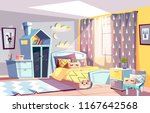 kids room modern interior... | Shutterstock .eps vector #1167642568