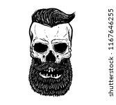 hand drawn bearded skull... | Shutterstock .eps vector #1167646255