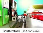 gasoline dispenser at petrol... | Shutterstock . vector #1167647668