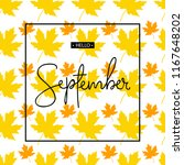 hello september calligraphy... | Shutterstock .eps vector #1167648202