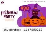 halloween holiday greeting...   Shutterstock .eps vector #1167650212