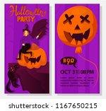 halloween flyer template....   Shutterstock .eps vector #1167650215