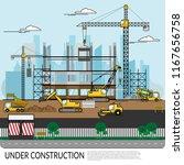 vector of busy construction... | Shutterstock .eps vector #1167656758