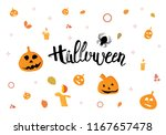 halloween handwritten dry brush ... | Shutterstock .eps vector #1167657478