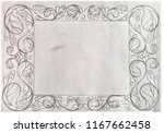 a rectangular watercolor... | Shutterstock . vector #1167662458