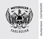 skull rider patch logo | Shutterstock . vector #1167664345