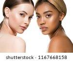 ethnic beauty women two black... | Shutterstock . vector #1167668158