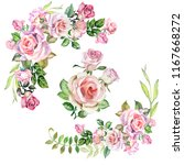 set of roses illustrations... | Shutterstock . vector #1167668272