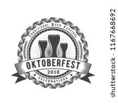 oktoberfest celebration. beer... | Shutterstock .eps vector #1167668692