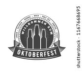 oktoberfest celebration. beer... | Shutterstock .eps vector #1167668695