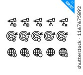 internet related icon set.... | Shutterstock .eps vector #1167675892