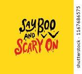 happy halloween vector... | Shutterstock .eps vector #1167686575