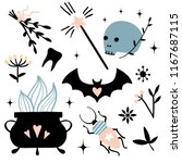 vector witch magic design... | Shutterstock .eps vector #1167687115