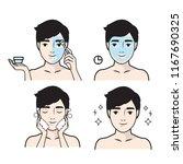 skin care illustrations.skin... | Shutterstock .eps vector #1167690325
