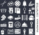 set of 25 icons such as tablet  ...