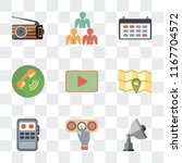 set of 9 simple transparency...   Shutterstock .eps vector #1167704572