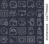set of 25 icons such as file ...