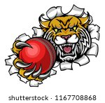 a wildcat angry animal sports... | Shutterstock .eps vector #1167708868