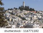 view of coit tower and... | Shutterstock . vector #116771182