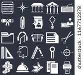 set of 25 icons such as printer ...