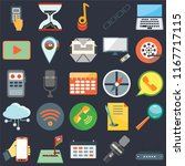 set of 25 simple editable icons ...   Shutterstock .eps vector #1167717115