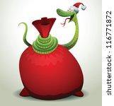 santa snake 09  vector | Shutterstock .eps vector #116771872