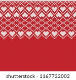 fair isle design with hearts.... | Shutterstock .eps vector #1167722002