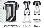soccer jersey and football kit... | Shutterstock .eps vector #1167731632