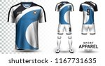 soccer jersey and football kit... | Shutterstock .eps vector #1167731635