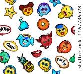 new emoji faces vector design... | Shutterstock .eps vector #1167736528