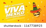 mexican vector banner layout... | Shutterstock .eps vector #1167738925
