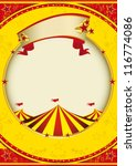 big top of fiesta. a red and... | Shutterstock .eps vector #116774086