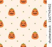 seamless vector pattern on... | Shutterstock .eps vector #1167745402