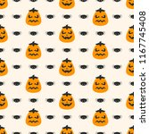 seamless vector pattern on... | Shutterstock .eps vector #1167745408