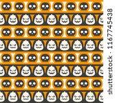 seamless vector pattern on... | Shutterstock .eps vector #1167745438