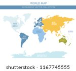 world map elements. build your... | Shutterstock .eps vector #1167745555