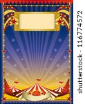 night circus flyer. a night... | Shutterstock .eps vector #116774572