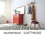 stylish hallway interior with...   Shutterstock . vector #1167746182