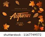 autumn sale background  hand... | Shutterstock .eps vector #1167749572