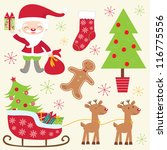 a cute colorful christmas... | Shutterstock .eps vector #116775556
