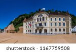 old and new parliament in vaduz ... | Shutterstock . vector #1167759508