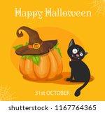 halloween illustration   cat... | Shutterstock .eps vector #1167764365