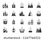 candle silhouette icons set.... | Shutterstock .eps vector #1167766522
