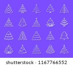 christmas tree paper cut line... | Shutterstock .eps vector #1167766552