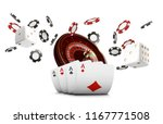playing cards and poker chips... | Shutterstock .eps vector #1167771508